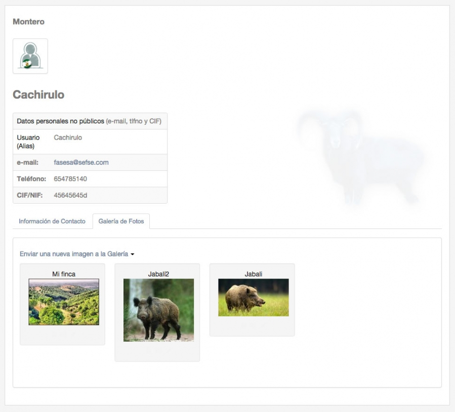 Montear.com - Ficha Usuario