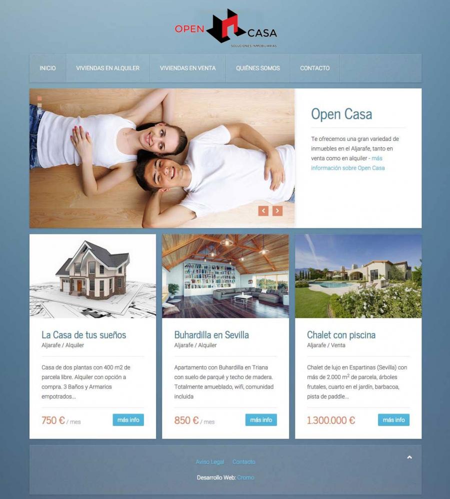Web Opencasa - Inmobiliaria