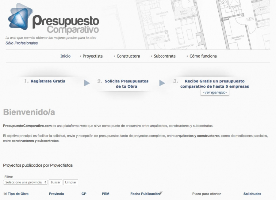 Web Presupuesto Comparativo