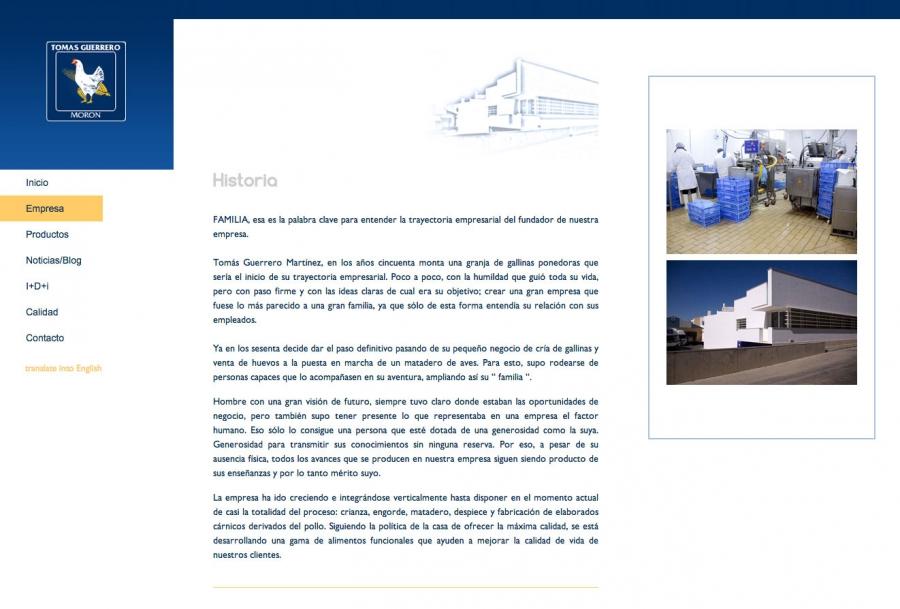 Web Tomás Guerrero - Empresa